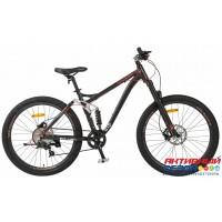 """Велосипед TechTeam Cross Way (27.5"""", 8 скор.) (Р-р= 18""""; Цвет: Черный) Рама алюминий"""