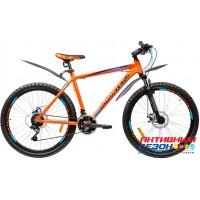 """Велосипед KROSTEK IMPULSE 615 (26"""" 21 скор) (Р-р= 17"""", 19"""", Цвет: Оранжевый) Рама алюминий"""