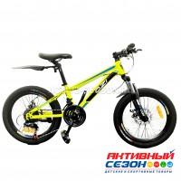 """Велосипед OZI (20"""", 21 скор.) (р-р: 12; Цвет: желто-неоновый) S2001D"""