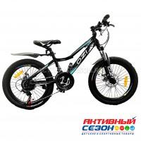 """Велосипед OZI (20"""", 21 скор) (р-р: 12; Цвет: черно-голубой) S2003DW"""