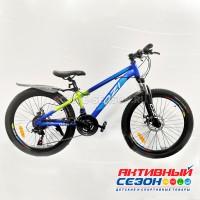 "Велосипед OZI (24"", 21 скор.) (р-р 13; Цвет: сине-салатовый) S2403D"