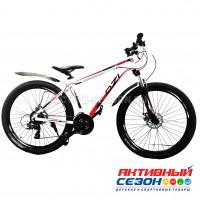 """Велосипед OZI (27"""", 21 скор.) (р-р: 17; Цвет: бело-красный) A2703D"""