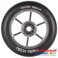 Колесо для самоката X-Treme 100мм. Форма 6RT, серебро, фиолетовый