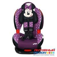 Автокресло для детей «Siger» серия Disney, Кокон ISOFIX, гр. I/II, Минни Маус (звезды фиолетовый)