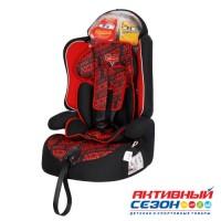 Автокресло для детей «Siger» серия Disney, Драйв, гр. I/II/III, Тачки гонка (красный)
