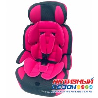 Автокресло LB 515 RF (Teddy Bear) ПК (18. PINK+BLACK DOT)
