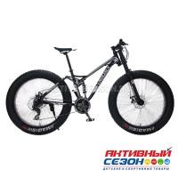 """Велосипед Fatbike LAUXJACK (26""""; скор.24) (Цвет: Черный) рама Сталь"""