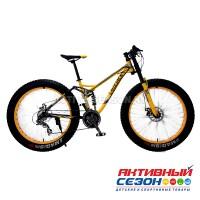 "Велосипед Fatbike LAUXJACK (26""; скор.24) (Цвет: Желтый) рама Сталь"