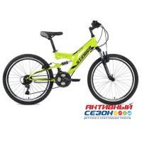 """Велосипед Stinger Highlander (2020) (24"""" 18 скор.) (Р-р = 14""""; Цвет: Серый; Зеленый) Рама Сталь"""