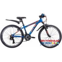 "Велосипед Novatrack Extreme (24"" 21 скор.) (Р-р = 11"", 13""; Цвет: Синий) Рама Алюминий"