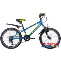 """Велосипед Novatrack Extreme (2020) (20"""" 6 скор.) (Цвет: Синий, Зеленый, Коричневый) Рама Сталь"""