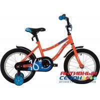 Детский велосипед Novatrack Neptune 14'' (Розовый, оранжевый, салатовый)