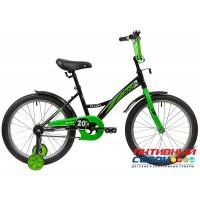 """Велосипед Novatrack Strike (20"""" , 1 скор.) (Цвет: черно-зеленый, бело-зеленый, бело-красный, черно-красный)"""