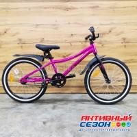 "Велосипед NOVATRACK PRIME (20"" 1 скор.) (р-р. = 12""; розовый металлик) рама алюминий"