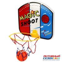 Набор для игры в баскетбол, ЩИТ 28Х24СМ КАРТОН, МЯЧ 7СМ