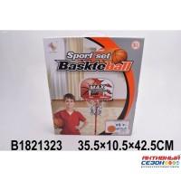 Набор для игры в баскетбол, щит 28х22см, мяч 10см, насос ZG270-31