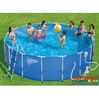 Каркасный бассейн Summer Escapes 488х132 см + фильтр-насос, лестница, настил, тент, набор для чиски DELUXE, скиммер