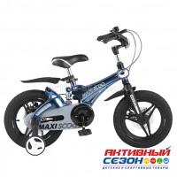 "Велосипед  детский Maxi Scoo  ""Galaxy"" 14"" Делюкс плюс (Темно-синий перламутр)"
