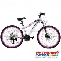 """Велосипед TechTeam Elis (26"""", 21 скор.) (Р-р= 17"""", Цвет: Белый, серый) Рама алюминий"""