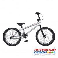 """Велосипед TechTeam Step One (20"""", 1 скор.) (Р-р= 18,7"""", Цвет: белый (серый)) Рама сталь"""
